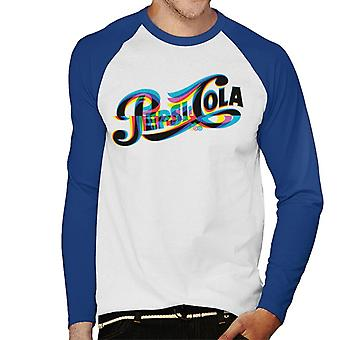 Pepsi 1940s Glitch Logo Men's Baseball Long Sleeved T-Shirt