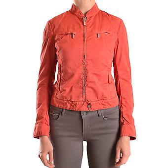 Brema Ezbc146006 Women's Orange Cotton Outerwear Jacket