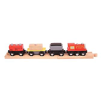 Bigjigs Rail Wooden Freight Train Carriages Engine Locomotive Compatible