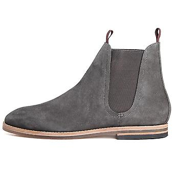 Hudson Shoes Eldon Chelsea Boot Suede  Charcoal Grey