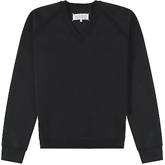 Maison Margiela V Neck Sweatshirt Black