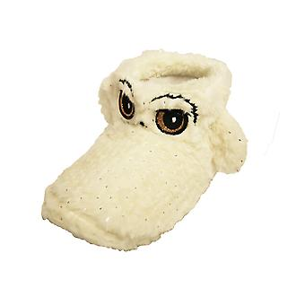 Harry Potter Girls Imailele Hedwig Faux Fur Boot Slippers