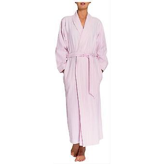 Boxers britânicos Westwood Stripe duas vezes robe de flanela-rosa
