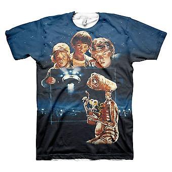Men's E.T. Extra Terrestrial All Over Print Retro T-Shirt