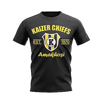 Kaizer Chiefs opgericht voetbal T-shirt (zwart)