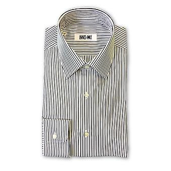 Ingram shirt in white and black stripe pattern