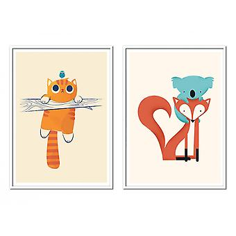 2 Art-Posters - Duo Animaux - Jay Fleck