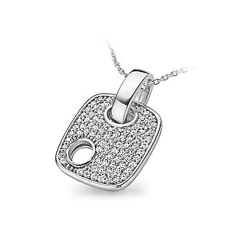 PENDANT WITH CHAIN LUXE 925 SILVER PAVE ZIRCONIUM