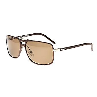 Breed Retrograde Aluminium Polarized Sunglasses - Brown/Brown
