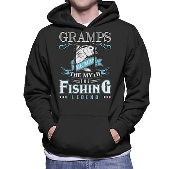 Gramps The Man The Myth The Fishing Legend Men's Hooded Sweatshirt