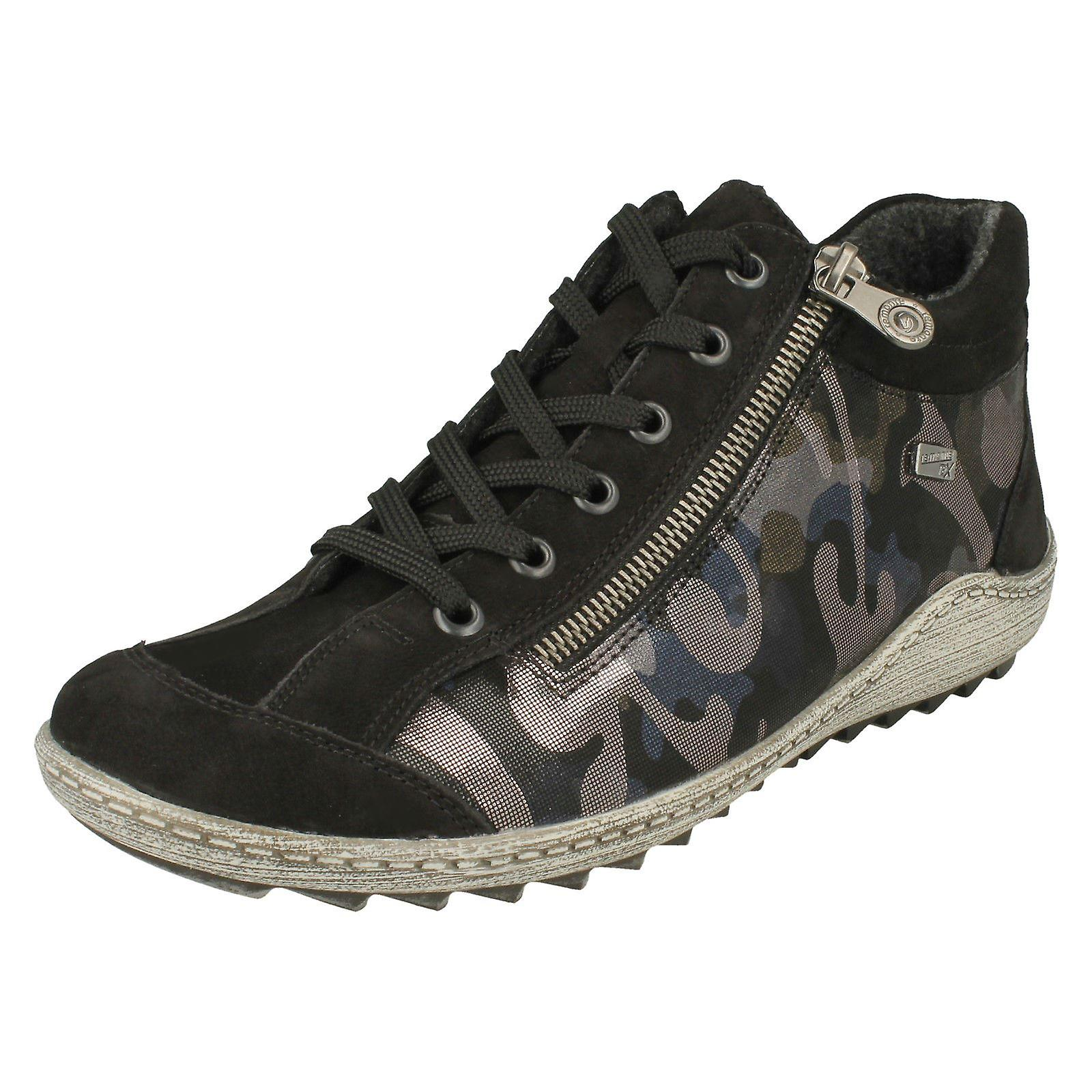 Panie remonte Lace up botki R1483 fT5sK