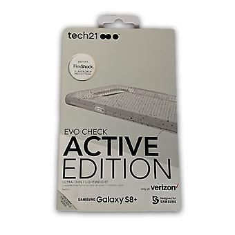 Tech21 Evo בדוק במקרה פעיל עבור גלקסי S8 פלוס-ברור/לבן