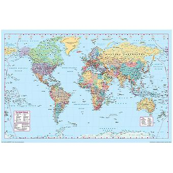 Poster - Maps - World Map 2 Wall Art Licensed Gifts Toys 36004