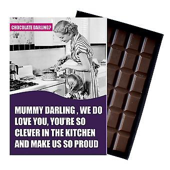 Regalo de cumpleaños divertido para las mujeres esposa esposa encajonada tarjeta de felicitación de chocolate presente CDL107