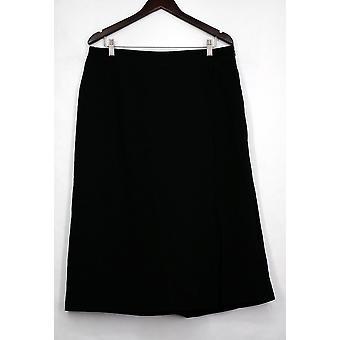 Kate & Mallory Pensil Skirt Elastic Waistband Zipper Shut Black A433423