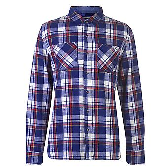 SoulCal Mens Flannel Shirt Long Sleeve Casual Lightweight Cotton Print Chest