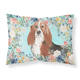 Carolines Treasures  CK3437PILLOWCASE Basset Hound Fabric Standard Pillowcase
