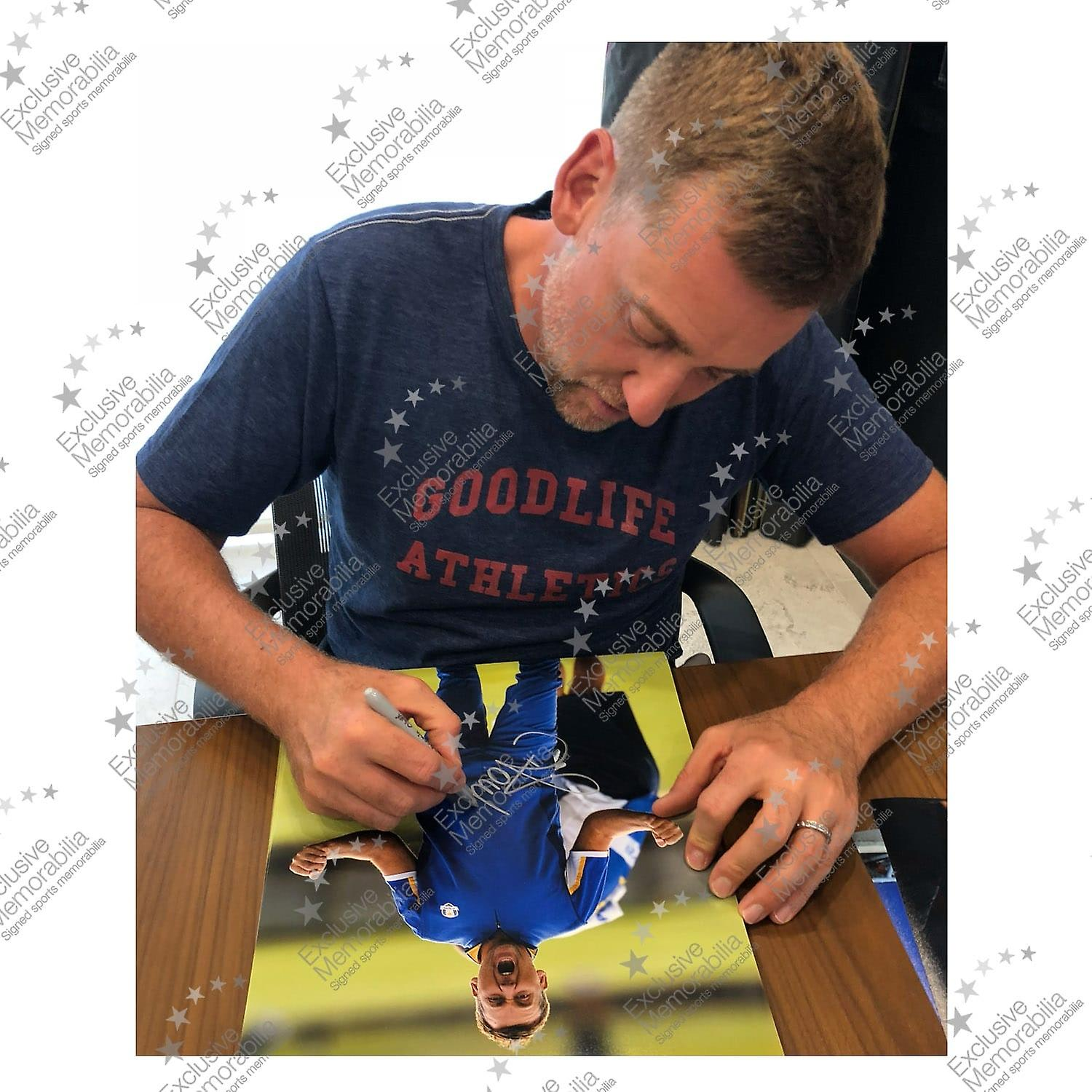 Ian Poulter Signed Golf Photo: The Postman. Framed