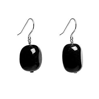 Lola Rose Woman Square Black Agata FASHIONEARRING