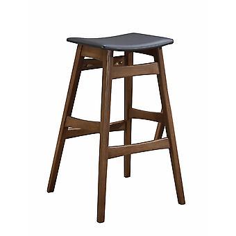 Mid-century modern angled bar stool, brown and gray ,set of 2