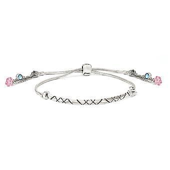 3,6 mm 925 Sterling Silber poliert Kristall Briolette verstellbare Armband Schmuck Geschenke für Frauen