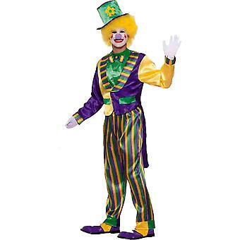Mardi Gras klovn voksen kostume