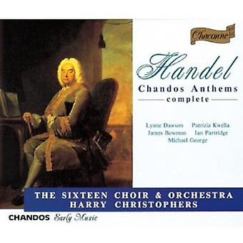 G.F. Handel - Handel: Chandos Anthems [CD] USA import