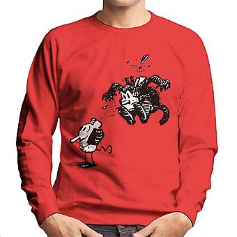 Krazy Kat Surprise Jump Men's Sweatshirt