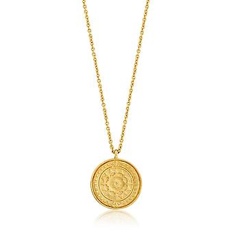 Ania Haie Sterling Silver Shiny Gold Plated Verginia Sun Necklace N009-05G