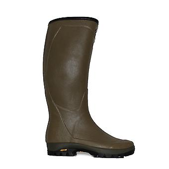 Le Chameau Country Vibram Green Mens Pull On Wellington Boots
