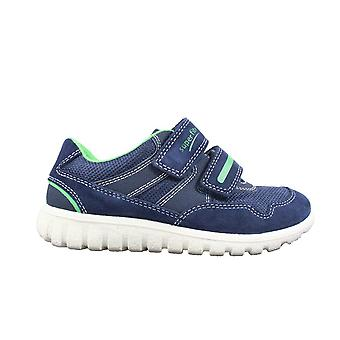 Superfit 09191-81 Navy Suede Leather Boys Rip Tape Trainer Shoes