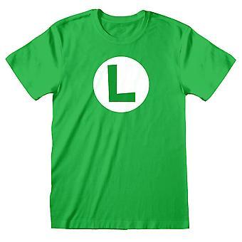 Men's Retro Super Mario Bros. Luigi L Logo grün T-Shirt