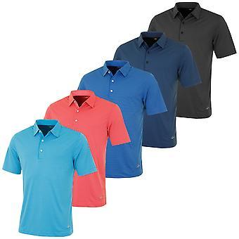 Greg Norman Mens Performance Tonal Stripe Golf Polo Shirt