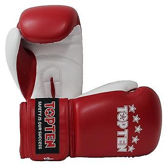 Top dix des gants de boxe NB II rouge