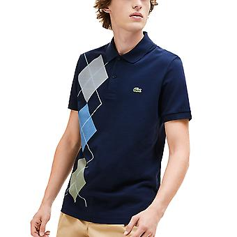 Lacoste Mens Ribbed Collar Polo Shirt