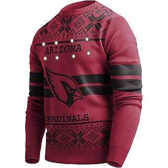 LED Light Up XMAS Knit Sweater - NFL Arizona Cardinals
