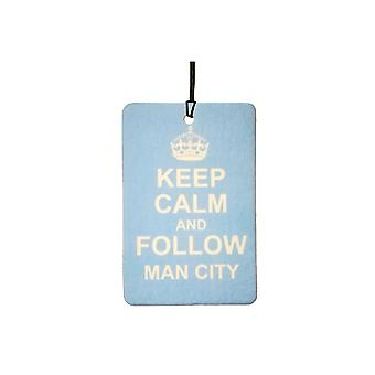 Keep Calm And Follow Man City Car Air Freshener