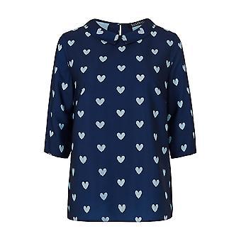 Sugarhill Boutique Women's Nala Heart Short Sleeved Blouse