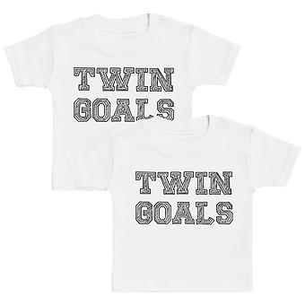 Twin Goals Baby T-Shirt Twin Set