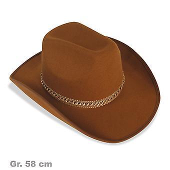 Cowboy hat Brown ledning vilde Vesten Hat