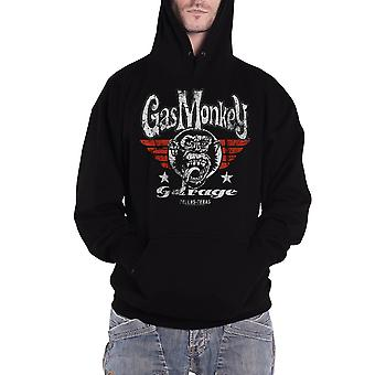 Officiel Mens Gas Monkey Garage Hoodie Flying High Logo Kustom Builds new Black