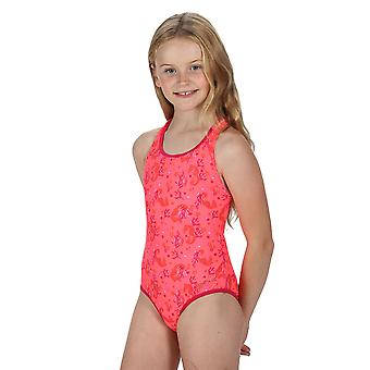 Regatta Girls Tanvi Polyamide Cross Back Swimsuit