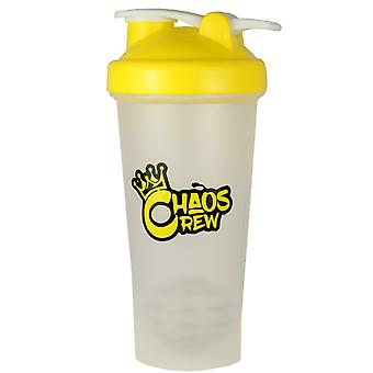 Chaos Crew Protein Shaker Bottle Yellow 600ml