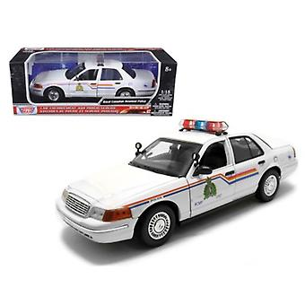 2001 Ford Crown Victoria Royal Canadian Mounted Police Car 1/18 Diecast Car Model par Motormax