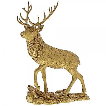 Border Fine Arts Stag Gold Figurine