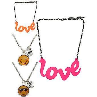 2 balenie emoji náhrdelník