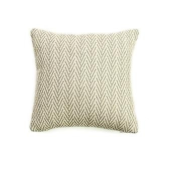 Tweedmill Organic Cotton Herringbone Cushion - Silver Grey 30cm X 30cm