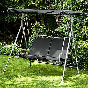 Black Replacement 2 Seater Canopy for Argos Malibu 2 Seater Garden Swing Seat