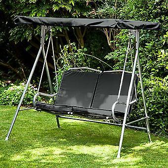 Substituição Negra 2 Seater Canopy para Argos Malibu 2 Seater Garden Swing Seat