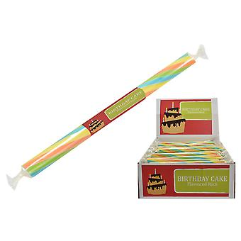 Pack of 20 Small Flavoured Rock Sticks - Birthday Cake